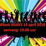 Eindfeest AGAVS zaterdag 14 april 2018