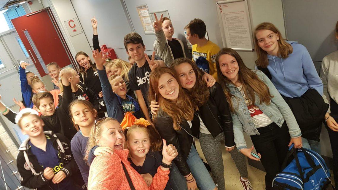 jeugdleden van AGAVS – KDK AGAVS bij het EK Mannen in Nederland Woensdagavond 18 september